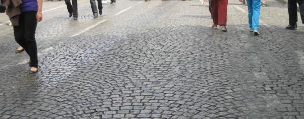 COBBLESTONE STREET - PARIS - cropped, credits
