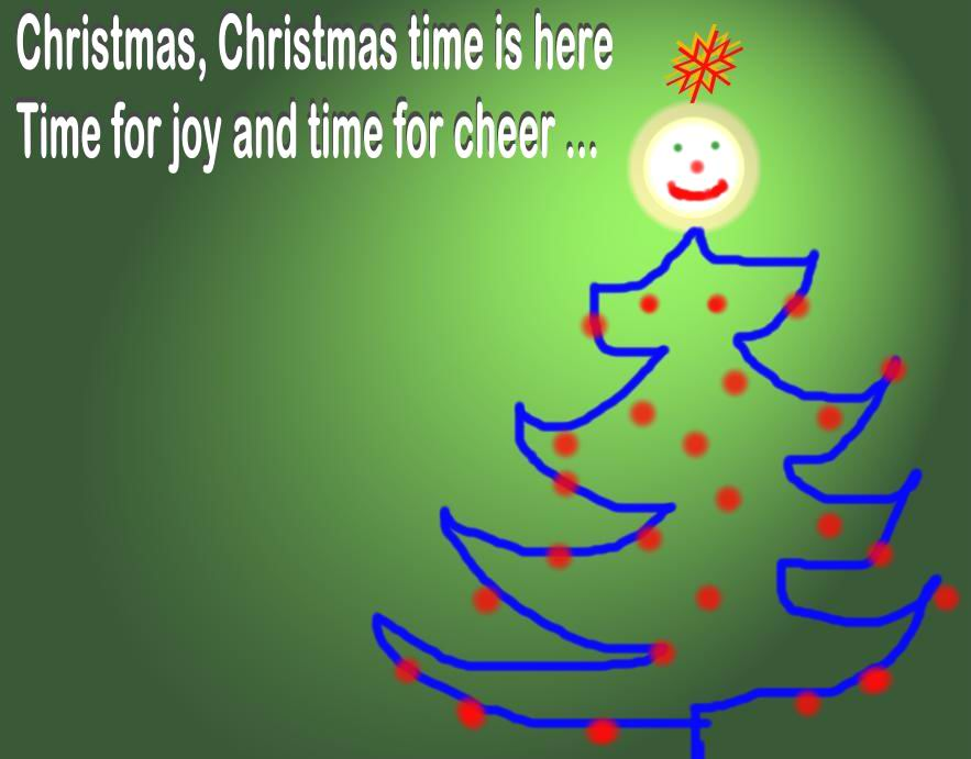 CHRISTMAS SMILEY TREE - BRIGHTER