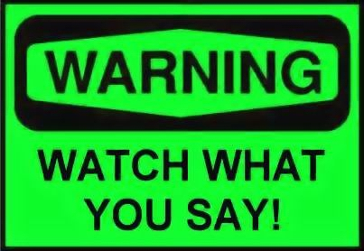 GREEN WARNING SIGN 2