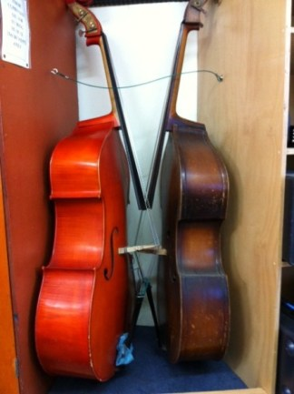 TWO BASS VIOLINS - CELLOS