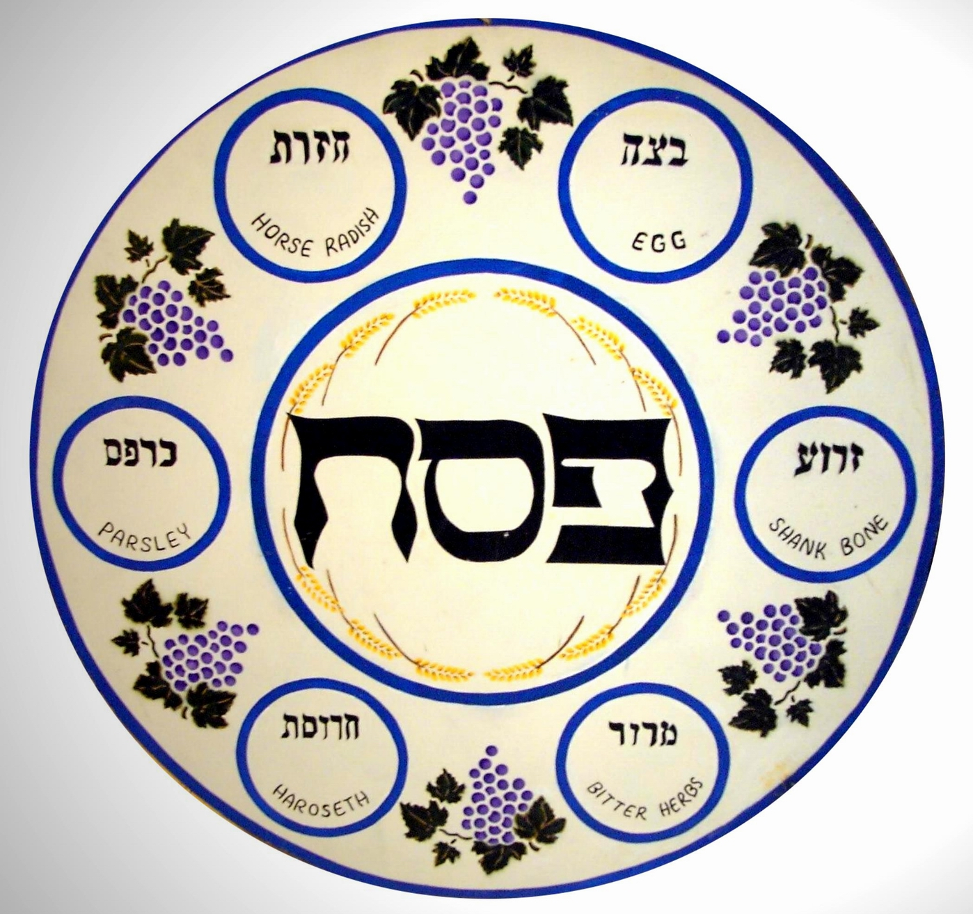 This is a graphic of Wild Printable Seder Plate