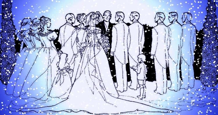WEDDING CEREMONY - BLUE - SNOW
