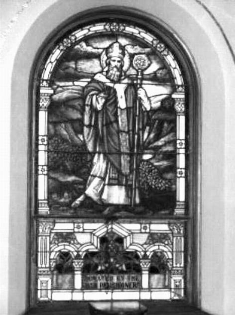 BLACK & WHITE ST. PAT WINDOW