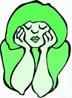 BORED GIRL - GREEN