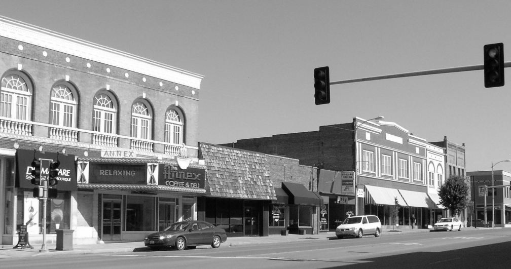 HERRIN STORE FRONT WINDOWS - B & W - cropped