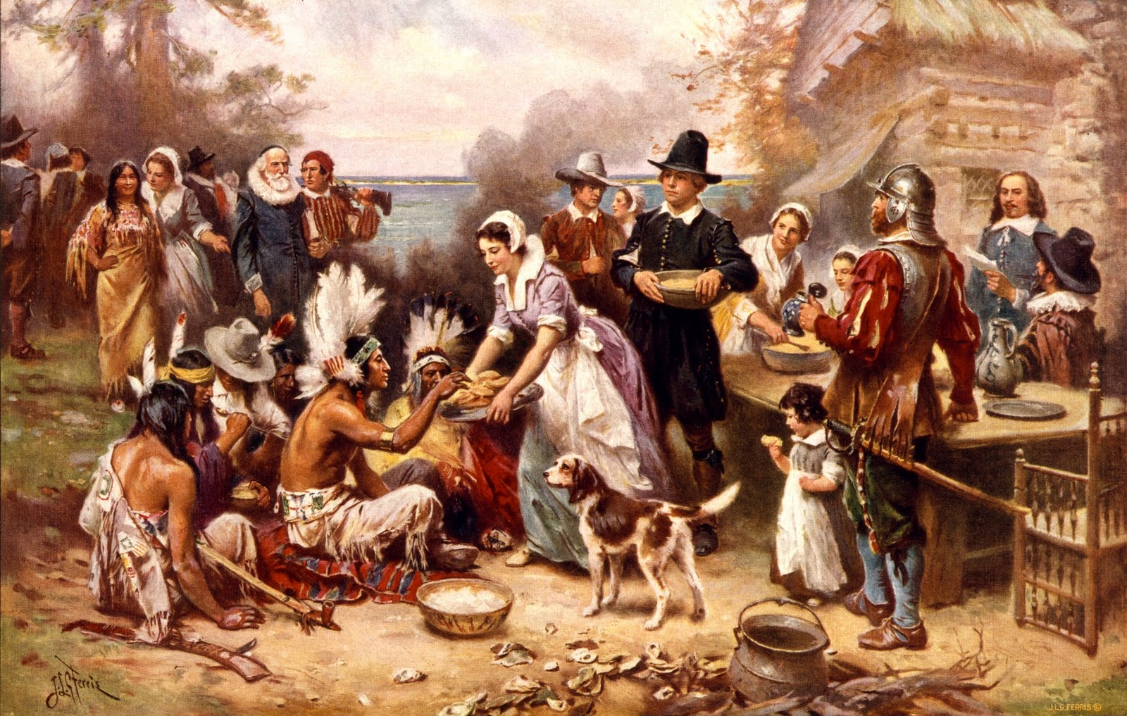 FIRST THANKSGIVING - PUB DOMAIN