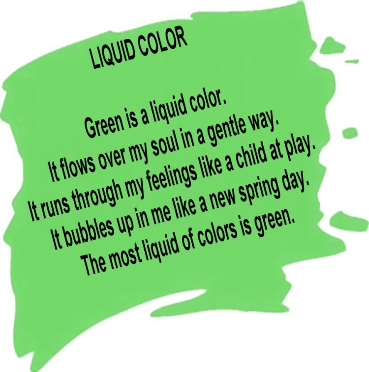 GREEN SWATCH - LARGE w. slanted text