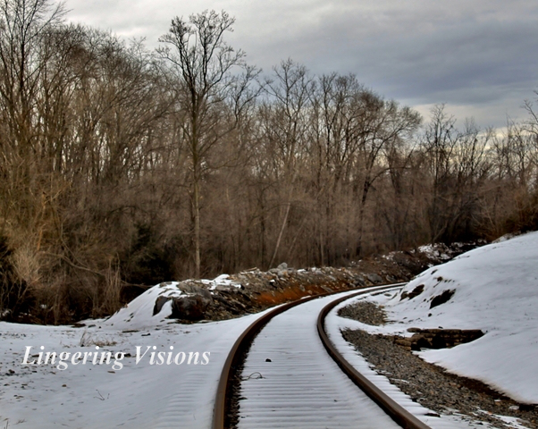 DAWN'S PHOTO OF SNOWY RR TRACK