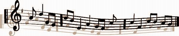 MUSICAL NOTES & SHADOW - SEPIA