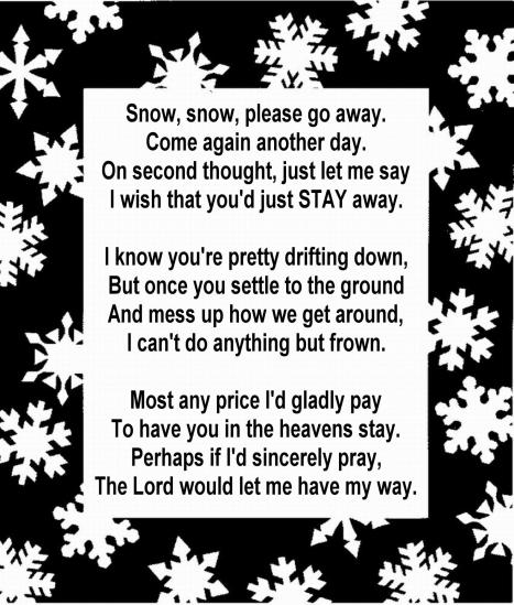 SNOWFLAKE FRAME 51 - with poem