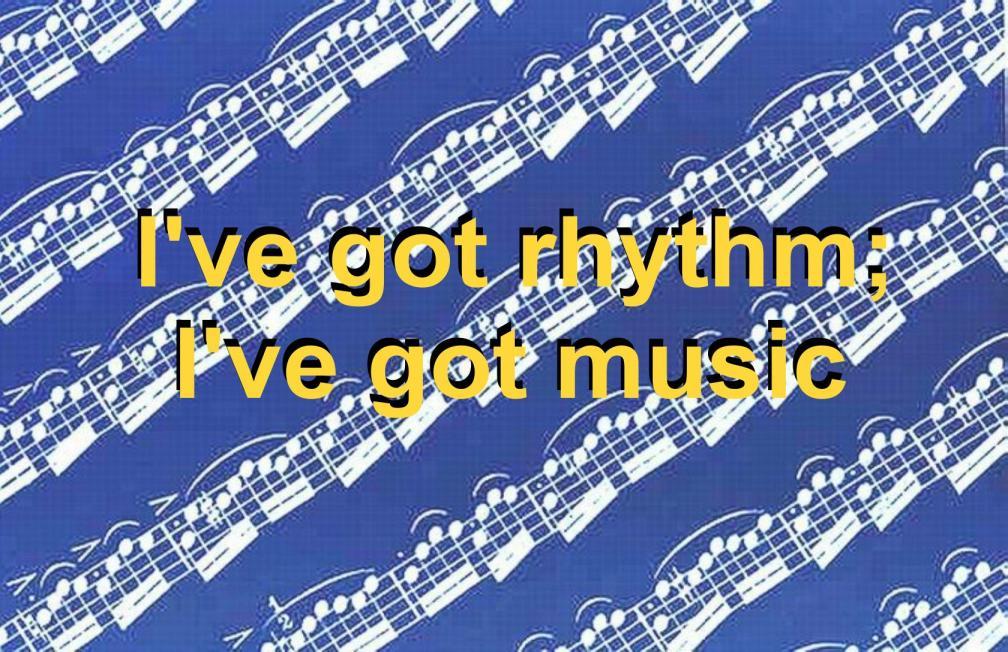 MUSIC NOTES - NEGATIVE - I'VE GOT RHYTHM