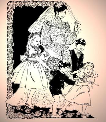 BRIDE AND CHILDREN - PINK