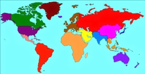 MAP - COLORED COUNTRIES