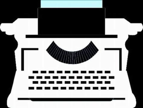 BLACK TYPEWRITER - NEGATIVE ENLARGED