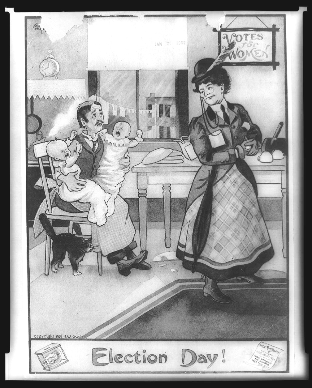 WOMEN'S SUFFRAGE CARTOON