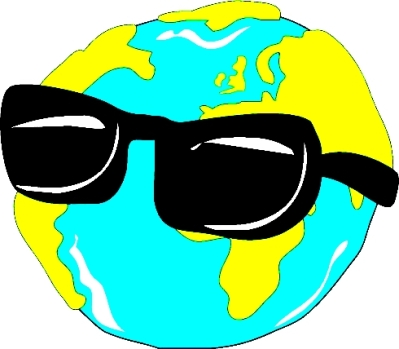GLOBE WITH SUNGLASSES - lighter