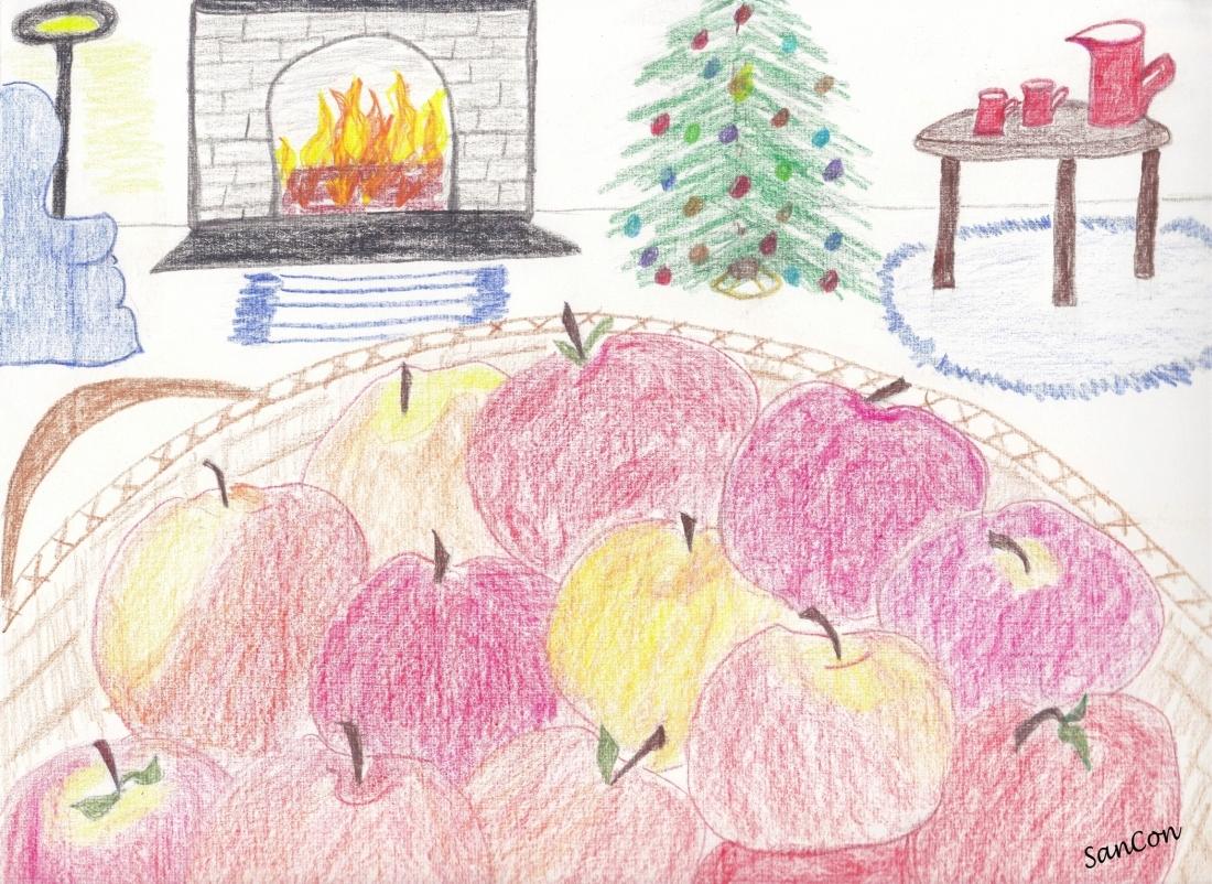 APPLES AT CHRISTMAS - NO EDIT - w. credits