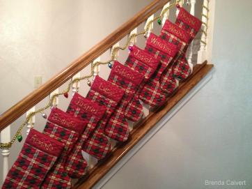 BRENDA'S STOCKINGS ON STEPS w.credits