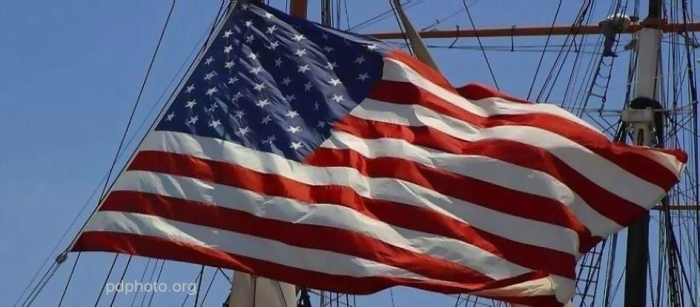 FLAG ON SHIP STRETCHED SHARPENED