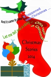 RED STOCKING WITH STORIES # 2 WITH ORNAMENTS