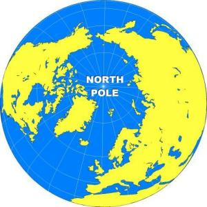 GLOBE - NORTH POLE DARK BLUE CLEAR NAME