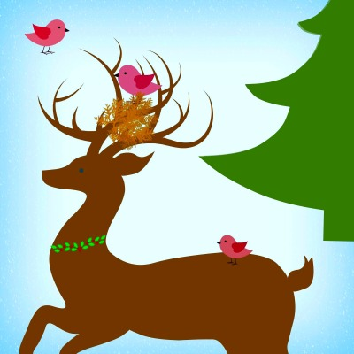 REINDEER W. BIRDS NEST - BETTER EYE - NEUTRAL PICKER