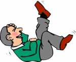 CARTOON MAN LYING DOWN LAUGHING 2