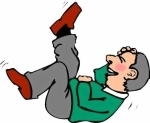 CARTOON MAN LYING DOWN LAUGHING 2