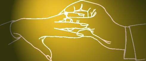 HANDS WITH ENGAGEMENT RING - GOLD