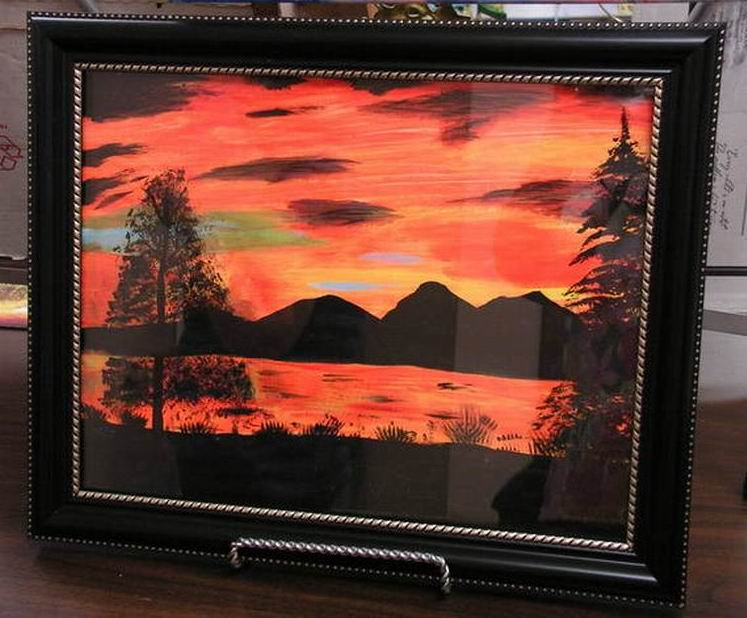 BARB'S PAINTING 1 - for orange challenge