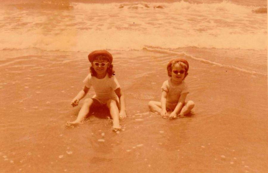 BRENDA & ME IN OCEAN - for orange challenge