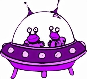 SPACESHIP CARTOON -PURPLE
