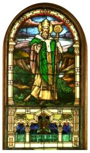 ST.PATRICK WINDOW BRIGHTENED CURVED