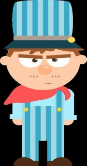 TRAIN ENGINEER CARTOON -- OPEN CLIPART