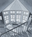 WINDOWS AND STAIRS FOR ART CENTER  SEPIA