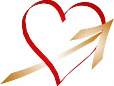 HEART W. GOLD ARROW