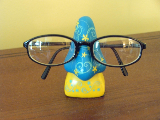 Glasses on a Ceramic Holder