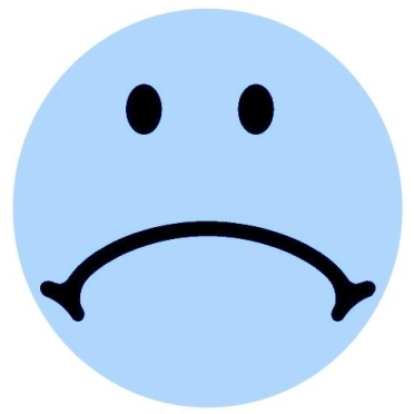 SMILEY - SAD FACE - BLUE