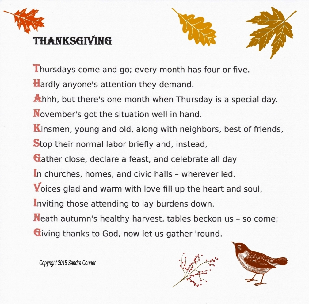 THANKSGIVING ACROSTIC - CORRECTED w. leaves