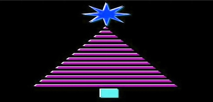 CHRISTMAS TREE - GEOMETRIC  pink - FOR FB