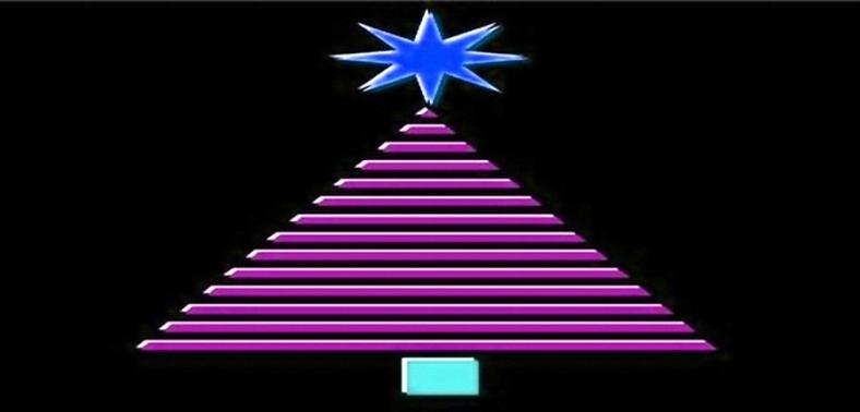 CHRISTMAS TREE - GEOMETRIC  pink - FOR FB