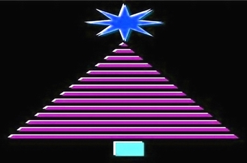 CHRISTMAS TREE - GEOMETRIC pink - small
