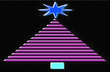 CHRISTMAS TREE - GEOMETRIC pink - small