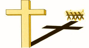 MANGER AND CROSS - NO WORDS gold