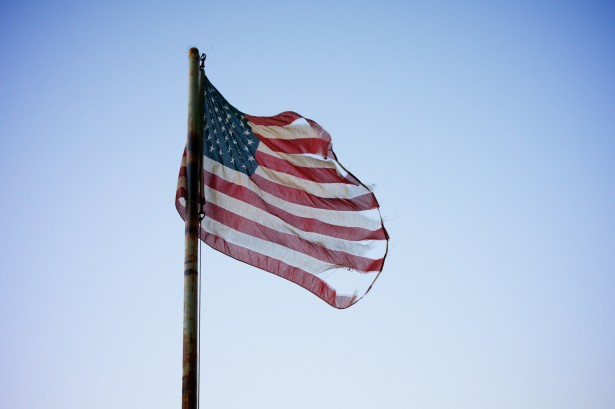 AMERICAN FLAG = TORN - public domain
