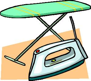 IRONING BOARD AND IRON - CLKER