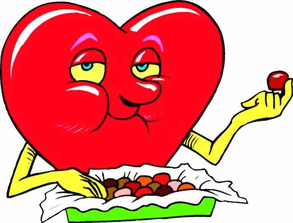 HEART EATING CHOCOLATE