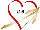 HEART W. GOLD ARROW w. # 3