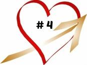 HEART W. GOLD ARROW w. # 4