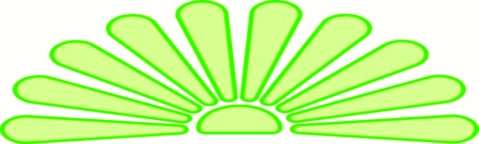 CLIP ART SUNSET green JPG